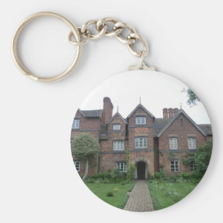 Old Moseley Hall 17th Century English Farmhouse Basic Round Button Key Ring