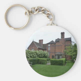 Old Moseley Hall near Wolverhampton Basic Round Button Key Ring