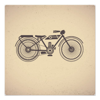 Old motorcycles poster