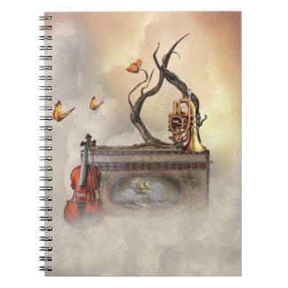 Old Music Instruments Notebook