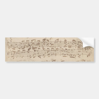 Old Music Notes - Bach Music Sheet Bumper Stickers