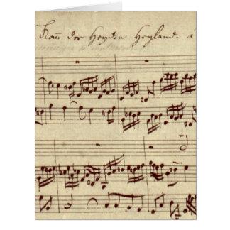 Old Music Notes - Bach Music Sheet Big Greeting Card