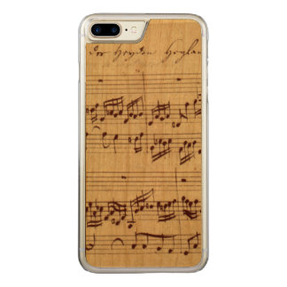 Old Music Notes - Bach Music Sheet Carved iPhone 8 Plus/7 Plus Case
