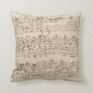 Old Music Notes - Bach Music Sheet Cushion