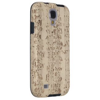 Old Music Notes - Bach Music Sheet Galaxy S4 Case