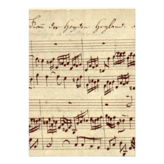 Old Music Notes - Bach Music Sheet Cards