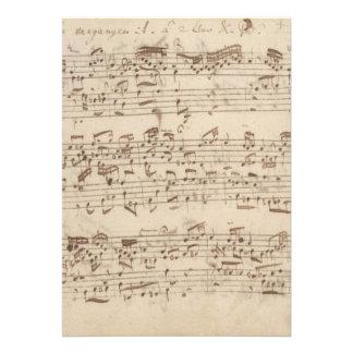 Old Music Notes - Bach Music Sheet Custom Invitation
