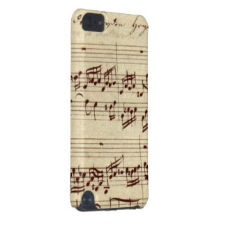 Old Music Notes - Bach Music Sheet iPod Touch 5G Case