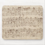 Old Music Notes - Bach Music Sheet Mouse Pad