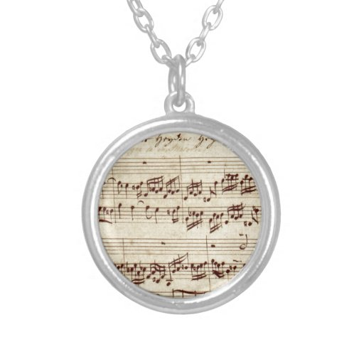 Old Music Notes - Bach Music Sheet Personalized Necklace
