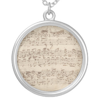 Old Music Notes - Bach Music Sheet Custom Necklace