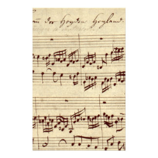 Old Music Notes - Bach Music Sheet Personalised Stationery