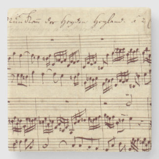 Old Music Notes - Bach Music Sheet Stone Coaster