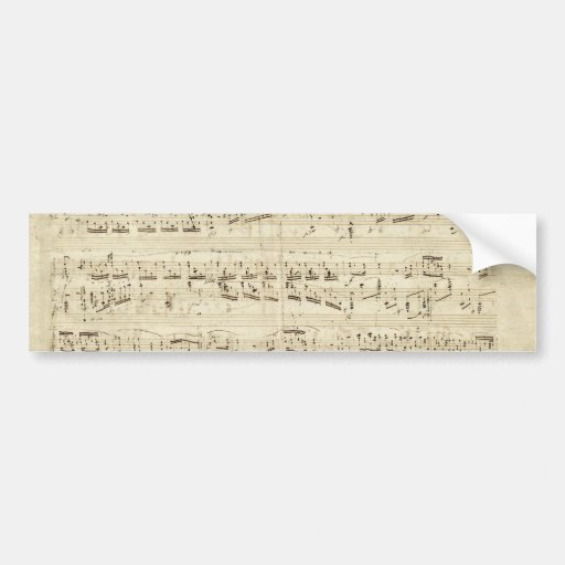 Old Music Notes - Chopin Music Sheet Bumper Stickers