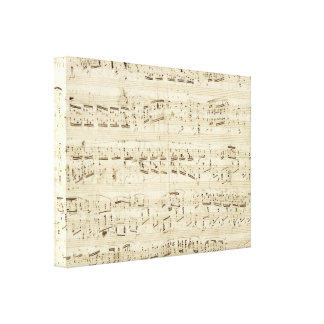 Old Music Notes - Chopin Music Sheet Canvas Prints
