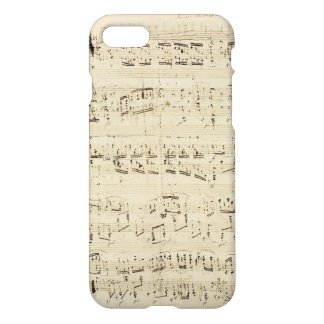 Old Music Notes - Chopin Music Sheet iPhone 7 Case