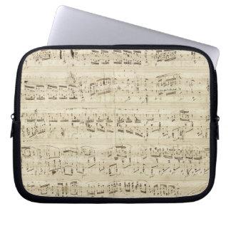 Old Music Notes - Chopin Music Sheet Laptop Sleeve