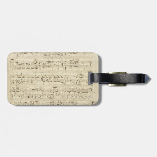 Old Music Notes - Chopin Music Sheet Luggage Tag