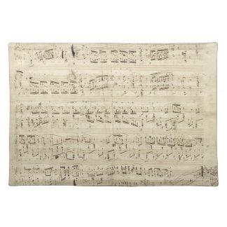 Old Music Notes - Chopin Music Sheet Place Mat