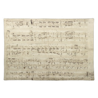 Old Music Notes - Chopin Music Sheet Placemats
