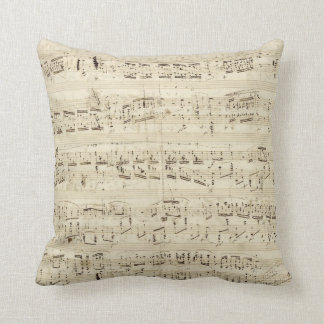 Old Music Notes - Chopin Music Sheet Throw Pillow