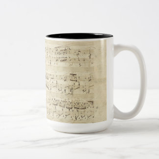 Old Music Notes - Chopin Music Sheet Two-Tone Coffee Mug