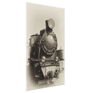 Old narrow-gauge steam engine Gr-269 Stretched Canvas Print