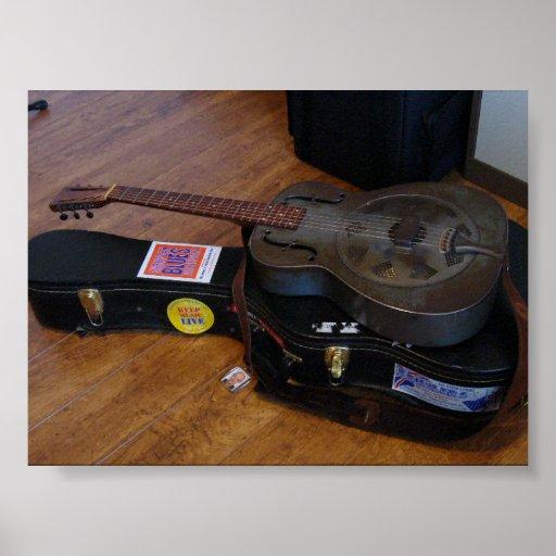 Old National Duolian Guitar Posters