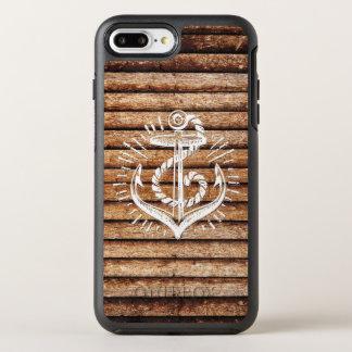 Old Nautical Anchor Wood OtterBox Symmetry iPhone 8 Plus/7 Plus Case
