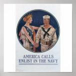 Old Navy Recruiting Poster circa 1917