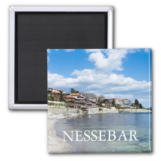 Old Nessebar. Bulgaria Square Magnet