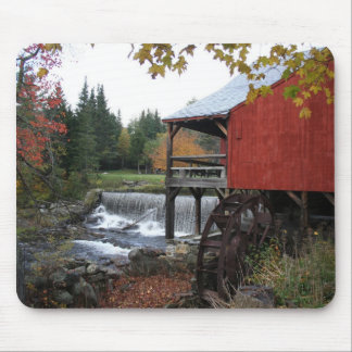 Old New England Mill in the fall Mousepad