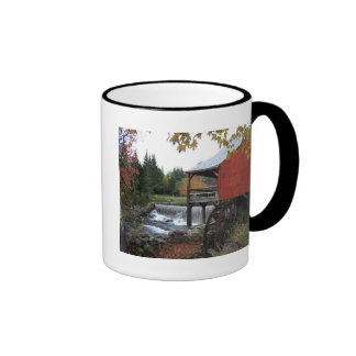 Old New England Mill, in the fall Ringer Mug