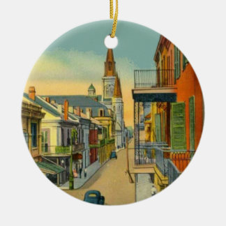 Old New Orleans French Quarter Christmas Ornament