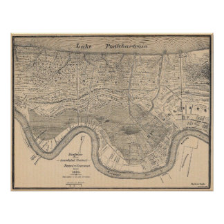 Old new Orleans MAp Poster