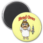 Old Nurse Bend Over 6 Cm Round Magnet