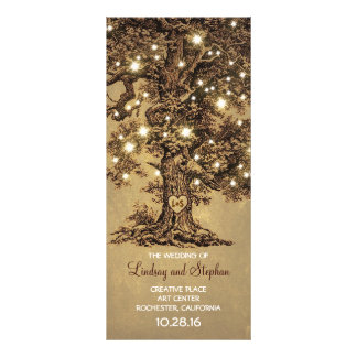 old oak tree rustic wedding programs rack card