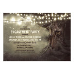 old oak tree twinkle lights engagement party personalized announcement