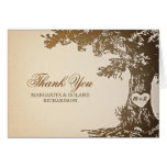 old oak tree wedding thank you cards