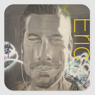 """""""Old off the Selfie Eric"""" Square Sticker"""
