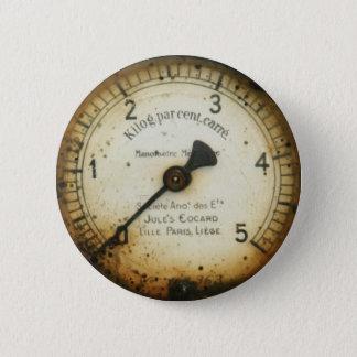 old oil pressure gauge / instrument / dial / meter 6 cm round badge