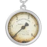 old oil pressure gauge / instrument / dial / metre