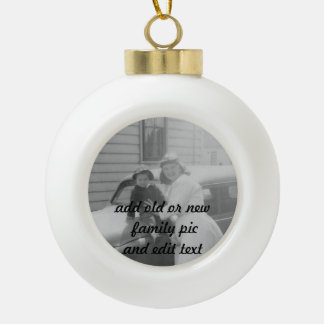 old or new family photo ball Ornament