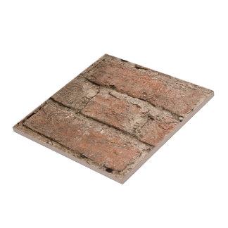 Old Orange Brick And Mortar Background Tile