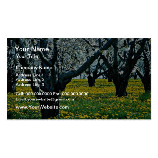 Old orchard flowers business card template