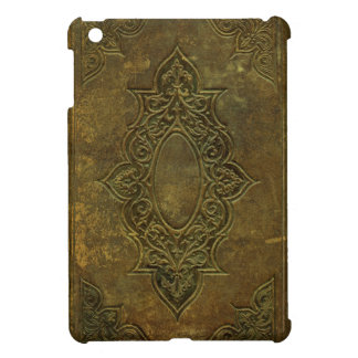 Old Ornate Leather Book Cover iPad Mini Case
