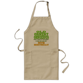 Old Ornery Obnoxious 95th Birthday Gifts Long Apron