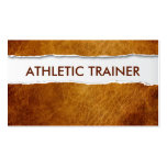 Old Paper Athletic Trainer Business Card