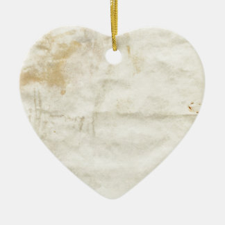 Old paper ceramic heart decoration