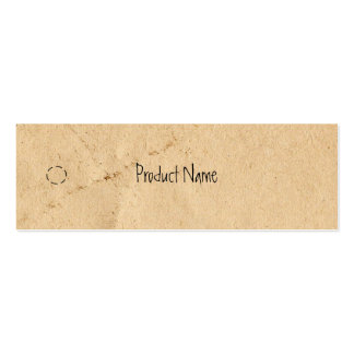 Old Paper Skinny Hang Tag Business Card